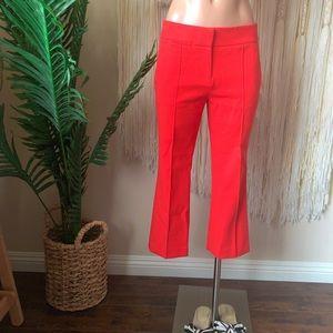 Loft Ann Taylor Red Orange Capri Marisa Pants